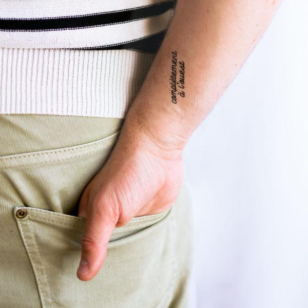tatouage ephemere completement a l'ouest